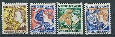1932TG Nederland Tweezijdige hoekroltanding  R94-R97 postfris mooie serie!