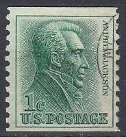 USA Briefmarke gestempelt 1c Andrew Jackson Rundstempel / 1483