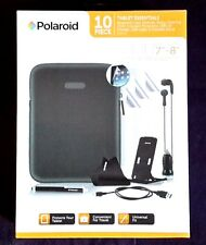 NIB.  Polaroid 10 pc Tablet accessories incl neoprene case, stylus, charger.