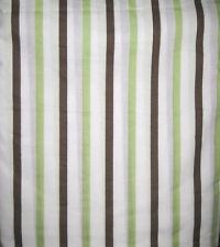 TWIN - Tiddliwinks - Madagascar Green Brown White Stripes DUST RUFFLE / BEDSKIRT