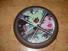 Monster high Wanduhr, Uhr, grau mit bunt, Batterie