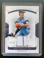 2018 Panini National Treasures BERT BLYLEVEN Pinstripe Jersey Patch Relic SP /99