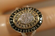 HEAVY 14K YELLOW GOLD 1.75CT CHOCOLATE CHAMPAGNE DIAMOND ARTDECO BALLERINA RING