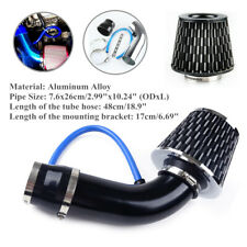 "Car Air Intake Kit Aluminum Alloy Pipe Diameter 3""+Cold Air Intake Filter+Clamp"