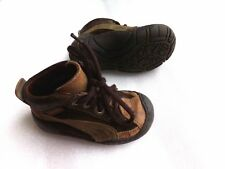 Boys Baby Toddler QUALITY Brown Leather Petit Shoes Winter Boots Sz 20 Euro 3-4