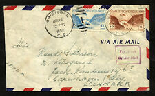 CANAL ZONE to DENMARK air cover 1950