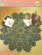Pineapple Fantail Table Topper Doily Crochet Pattern - Pineapple Treasures HOWB