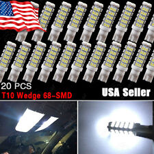 20X Super Bright White T10 68SMD LED Backup Reverse Lights Bulb W5W 194 168 2825