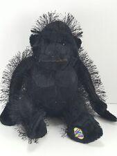 "Monkey Gorilla Black Furry Ape Plush Stuffed Animal  8"" Ganz Webkins beanie"