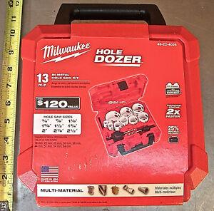 """MILWAUKEE """"HOLE DOZER"""" MODEL No. 49-22-4025, 13-PC. HOLE SAW KIT 3/4"""">2-1/2"""" NEW"""