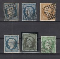 AG4878/ FRANCE – 1850 / 1860 USED CLASSIC LOT - CV 535 $
