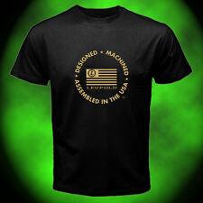 VTG marcendise Mens Black T-Shirt Leupold RX1000i Logo Size:S-5XL Ready