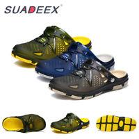 Mens Clogs Garden Sandals Beach Swim Barefoot Slip on Flat Summer Water Shoes