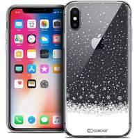 Coque Crystal Gel Pour iPhone X (10) Extra Fine Souple Noël 2017 Flocons de Neig