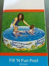"New ListingBestway,Ocean Life,Fill N Fun,Splash & Play,60"" Swim Pool,Full Color,Kids 3+,New"