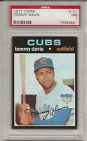 1971 TOPPS #151 TOMMY DAVIS, PSA 7 NM, CHICAGO CUBS, CENTERED, L@@K !