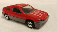 Zee toys 1984-91 Honda CRX in red 1/64th scale.