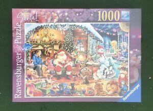 Let's Visit Santa Ravensburger 1000 Piece Limited Edition 2018 Jigsaw Puzzle.