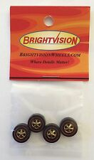 4 Brightvision Redline Wheels – 4 Large Gold Chrome Cap Style Wheels