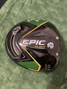Callaway Epic Flash Sub Zero Double Diamond Tour Issue Driver Head Only TC 10.5