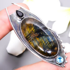 Sterling Silver Handmade Jewelry 2.73 Natural Tiger Eye Stone 925