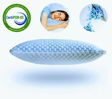 Memory Foam Cooling Pillow Reducing Heat and Moisture Ice Gel Infused, Queen 2pc