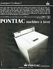 Publicité Advertising 037  1966   la machine à laver Pontiac automatic 4.5kg