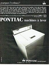 Publicité Advertising 037  1966   la machine à laver Pontiac automatic 4.5kg