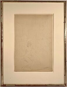 Milton Avery (1885-1965) Signed Ink On Paper Painting w/ Gallery Provenance