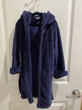 Baby Gap Blue Navy Bear Plush Robe 4t