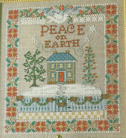 Peace On Earth Sampler Christmas Cross Stitch Pattern from a magazine Holiday