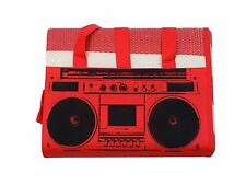 classique RADIO rayé rouge blanc noir grand TRANSPORT PLAGE Tapis 90cm x 180cm