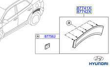 Genuine Hyundai Tucson Side Moulding (Quater Panel), LH - 87741D7000