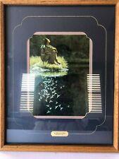 Vintage Bev Doolittle Let My Spirit Soar Double Matted & Framed Print Lithograph