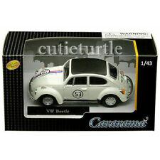 Cararama Herbie Volkswagen Beetle Racer #53 1:43 Cream with Black Top 41184