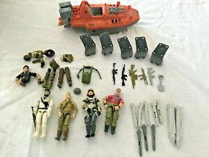 Vintage 4 GI Joe Action Figures 1980's Hasbro -Devilfish Boat - Body Parts