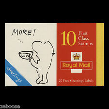 Great Britain 1996 Cartoons Greeting Booklet with plate numbers