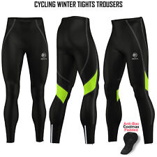Mens Cycling Tights Winter Thermal Padded Pants Cycle Long Trouser Legging ROXX