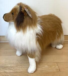 NWT Melissa & Doug Lifelike / Life Size Shetland Sheepdog Sheltie Dog Plush