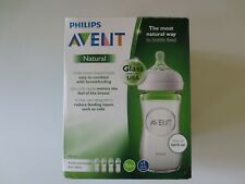 Philips Avent Natural Glass Baby Bottle 8 Oz 4pk