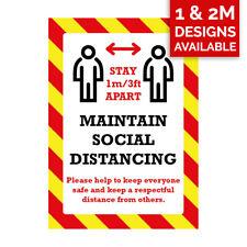 Mantenga sus signos de distancia-la distancia social, placas de plástico/Pegatinas De Vinilo