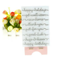 English greetings Transparent Silicone Clear Stamps for Scrapbook Album Cards UK