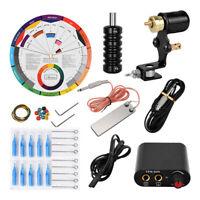Starter Complete Tattoo Kit Motor Machine Cavo di alimentazione Guida colori