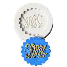 Happy Birthday Stamp Silicone Fondant Decorating Sugarcraft Baking Cake Mold