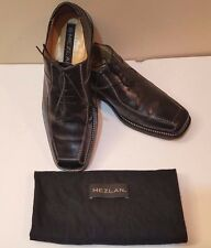 "Mezlan ""Parana"" Blk Leather w/White Top Stitch Handmade Oxford Shoes Sz 8 M /Box"