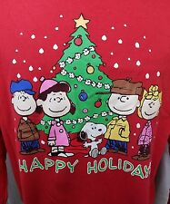 Ugly Christmas SCHULTZ Sweater Sweatshirt Peanuts Gang Charlie Brown Snoopy XL