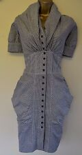 All Saints Gingham Elma 10 Immaculate Hitched Bustle Wedding Steampunk Dress