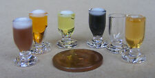 Tumdee Dolls House Drink Glass With Beer, Cider, Stout, Milk, Lager Or Empty ML