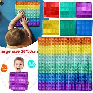 30CM Groß Fidget Toys Push Simple Dimple Pop Bubble IT Sensory Relief Toy^DE