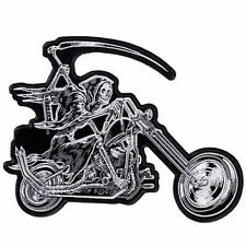 REAPER RIDER Grim SKULL Embroidered Motorcycle Biker MC Club BACK Patch LRG-0565